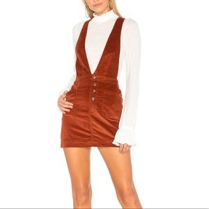 Free People Old School  Overall Dress in Copper